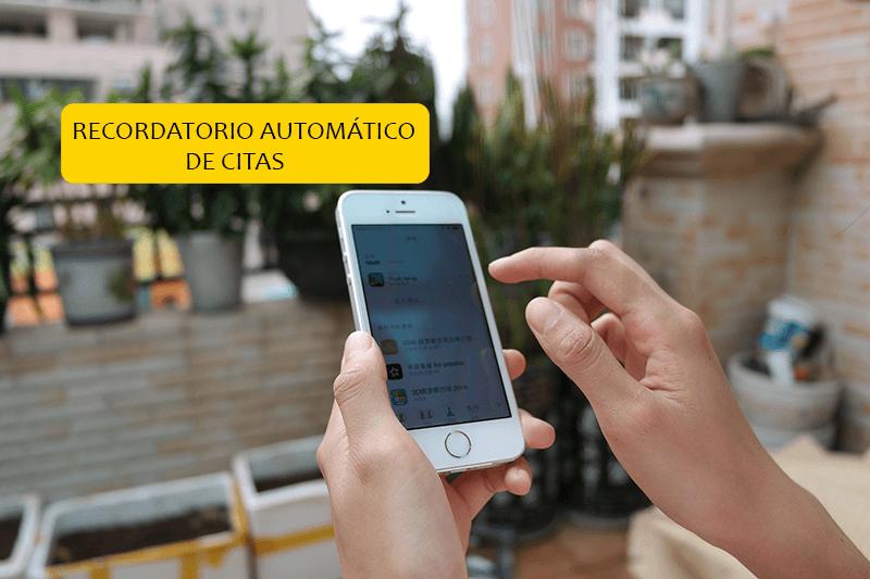 Recordatorio automático de citas por SMS, Emails y Notificaciones